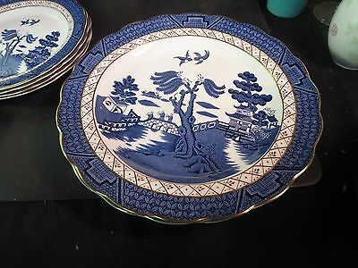 "Royal Doulton Booths Real Old Willow 10-1/2"" Dinner Plate"