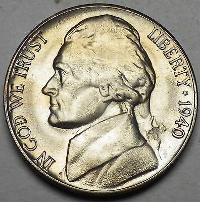 1940-D Jefferson Nickel Very Choice Gem BU Full Steps