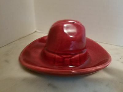 Bauer (?) Maroon Cowboy Hat Ashtray