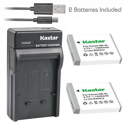 NB-6L Battery&Charger for Canon PowerShot S120, SD770 IS, SD980 IS, SD1200 IS