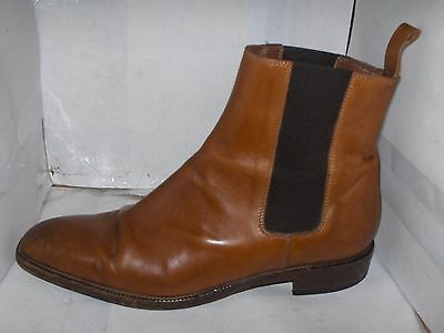 Ralph Lauren Collection Womans Cognac Leather Ankle Boots Size 8.5 B Italy..