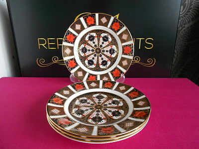 4 X Royal Crown Derby 1st Quality Old Imari 1128 Salad Plates 8.5""