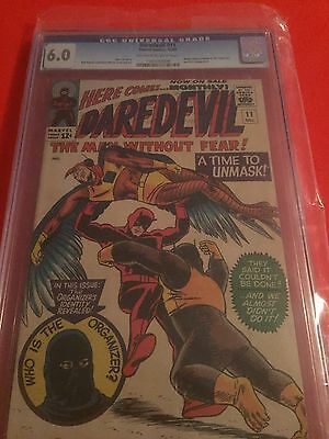 """Daredevil #11 1965 Cgc 6.0  """"a Time To Unmask"""""""
