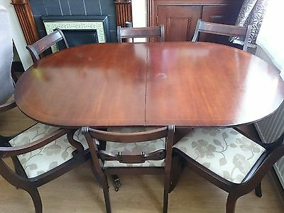 DINING TABLE and 4 CHAIRS/ Regency stile Reproduction - 1930s
