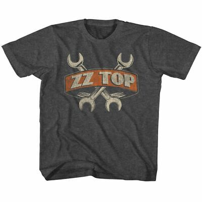 ZZ TOP - WRENCHES BLACK HEATHER Boys Girls Youth Kids T-Shirt