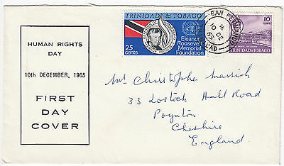 X7004 Trinidad and Tobago first day cover Human Rights Day 1965