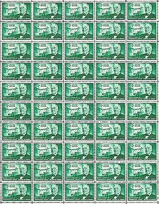 1961 - GEORGE W. NORRIS - #1184 Full Mint Sheet of 50 Vintage Postage Stamps