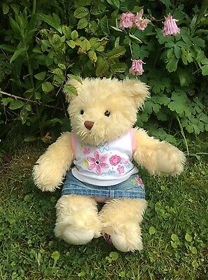Cute Build a Bear Teddy and Outfit, Girl's Clothes