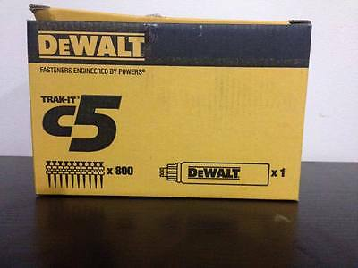 DeWALT DDF6110100 C5 TRAK-IT Gas & Pins - 25mm x 2.6mm Shank 800 Qty