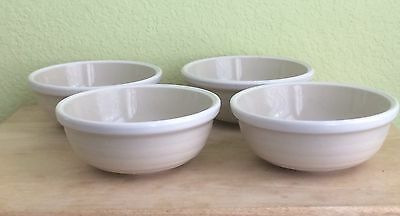 Vintage Stoneware Pottery Whipped Cream Bowl Made In Korea Set Of 4