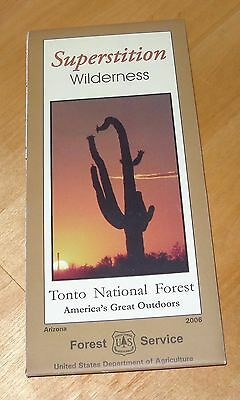 Forest Service Tonto National Forest, Superstition Wilderness AZ 2006 Map   80