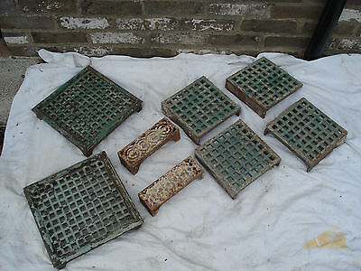Selection Of Original Victorian Cast Iron Air Vent Grille S