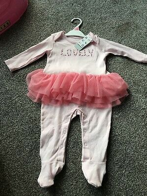 Lovely BabyGrow With A Tutu Age 6-9 Months