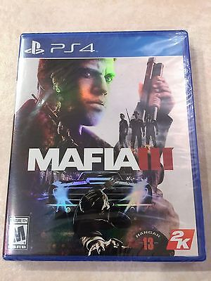 Mafia III PS4 (Sony PlayStation 4, 2016) Brand New, Sealed