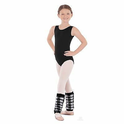 Girls Eurotard 12'' Black & White Leg Warmers