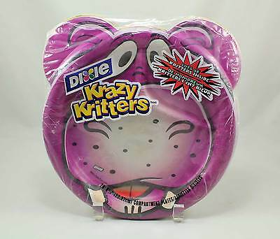 """Dixie Krazy Kritters 8 3/4"""" 28 Count Paper Plates New Sealed"""