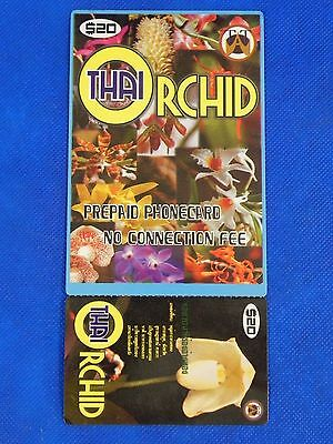 Vintage Collectible Prepaid Phone Card Thai Orchid $20 USED Last One