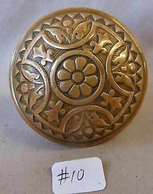 "Door Knob (single) Antique  BRASS VICTORIAN Eastlake 2 1/4"" #10"