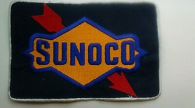 """Vintage SUNOCO Service Oil Station 6"""" x 9"""" EMBROIDERED Fabric Uniform PATCH"""