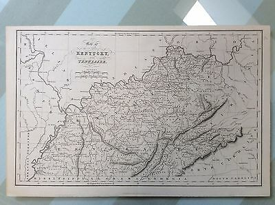 Antique Map of Kentucky and Tennessee 1831