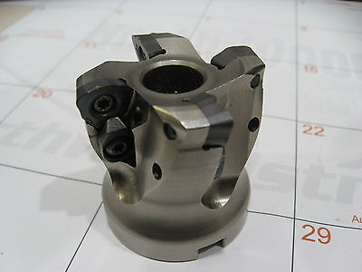 "USED 2"" MITSUBISHI AJXU12R0204 HIGH FEED INDEXABLE FACE MILL 3/4"" Arbor"