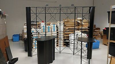 Skyline Mirage Plus 10' Popup Display Trade Show Booth Skytruss + extras!