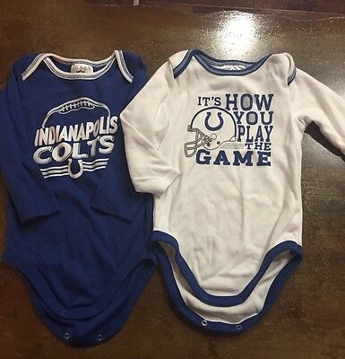 Baby Unisex 18 Months COLTS one Piece - Set Of 2!!