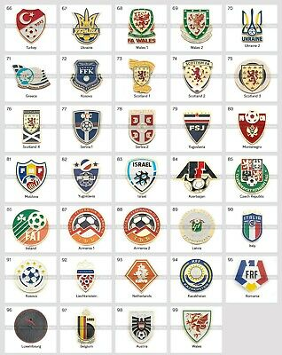 Badge Pin: UEFA Union of European Football Associations Football Federation 3