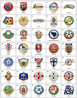 Badge Pin: UEFA Union of European Football Associations Football Federation 1