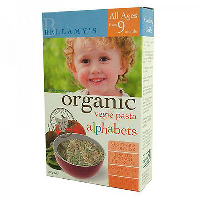 NEW Bellamy's Organic Baby Food Vegie Pasta Alphabets Baby Food Nutrition