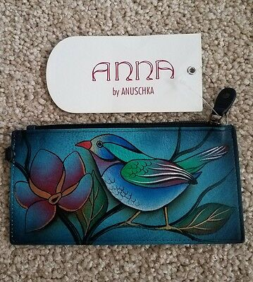 anna by anuschka card and coin leather wallet