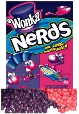 Bulk Lot 12 x Wonka Nerds Grape Strawberry Candy Lollies Sweets Party Favors