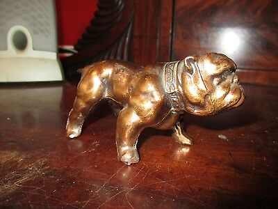 Vintage Cast Metal Bulldog Figurine