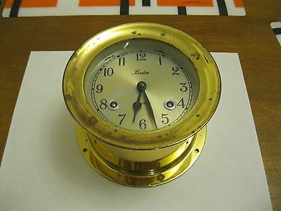 Vintage Boston Chelsea Shipstrike Brass Clock