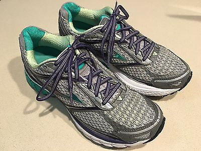 "BROOKS Women's ""Ghost 7"" Teal/Purple/Silver Mesh Running Shoes Size 8"