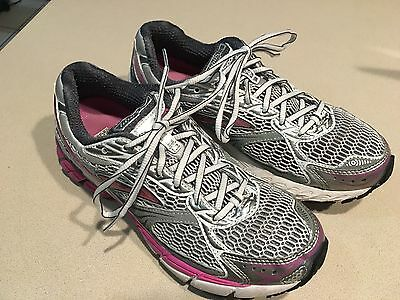 "BROOKS Women's ""Ghost 4"" Pink/Silver Mesh Running Shoes Size 9.5"