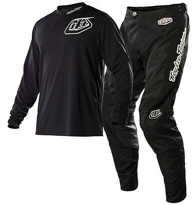 New TROY LEE Midnight Black MX Motocross Jersey & Pants Outfit Enduro