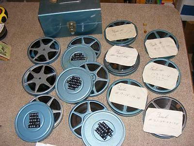 8mm Film Home Movie Lot 1960's 70's Disney World NY to France on Ocean Europe