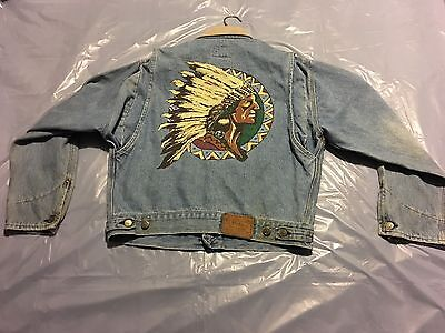 VTG POLO RALPH LAUREN DENIM JEANS JACKET COUNTRY 1992 p wing stadium sportsman