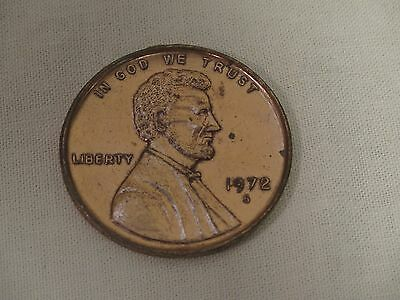 """Vintage GIANT Novelty Lincoln Penny Coin 1972 Toy 3"""""""
