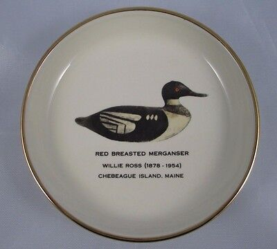 Maine Ducks Unlimited Collector's Plate Red Breasted Merganser Chebeague Island