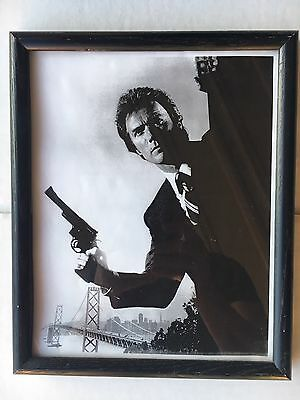 Clint Eastwood Framed Dirty Harry Black And White Photograph