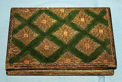 """Vintage Italian Gold Florentine Toleware Folding Frame Box """"Marriage Blessing"""""""