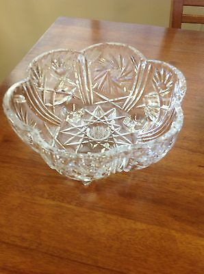 VINTAGE Crystal Bowl
