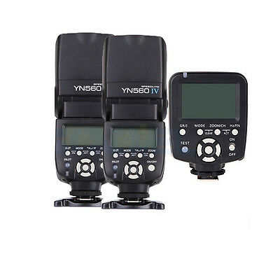 2 Yongnuo YN-560 IV Flash Speedlight, YN560-TX Manual Flash Controller for Nikon