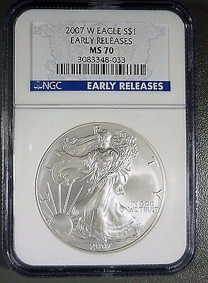 2007-W American Silver Eagle Early Releases NGC MS70
