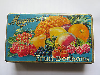 MAYNARDS FRUIT BONBONS TIN ENGLAND c1930s FRUIT FLAVOURED SWEETS