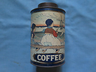 COFFEE TIN c1910s KITCHEN WARE TIN MADE by A SIMPSON & SON ADELAIDE SOUTH AUST