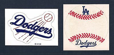 Vintage Los Angeles Dodgers 1971 Meyercord Decal & 1970's Sticker Lot of (2)