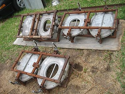 TOILET SEAT & LID MOULDS x 3, CAST ALLOY WITH STEEL FRAMES